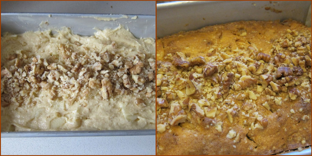 2 pics of before and after baking