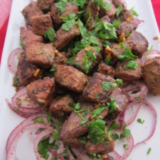 Spicy Turkish Liver in the Albanian style: Arnavut Ciğeri