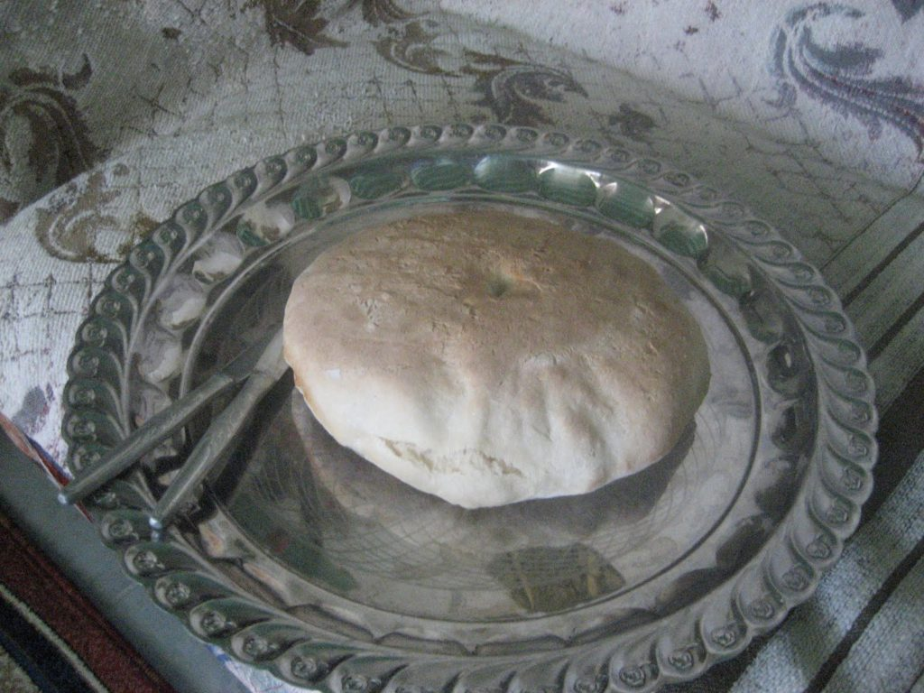 Loaf of uncooked bread