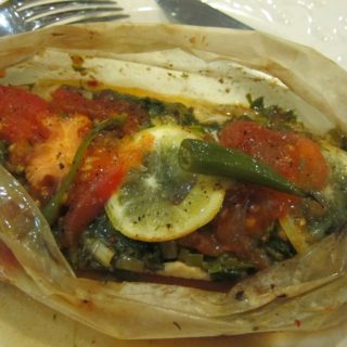 baked sea bass in parchment