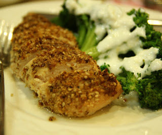 Almond and Seed-crusted Chicken/Bademli ve Baharat Tohumlu Tavuk