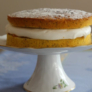 Orange and Poppy Seed Victoria Sponge