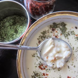 A Hearty Autumnal Soup: Wheat with Yogurt Soup/Yoğurtlu Buğday Çorbası