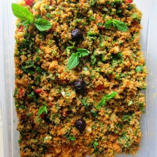 Kısır/Spicy Bulgur Salad with Tomatoes and Pomegranate Molasses