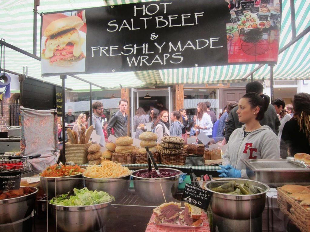 food stall Broadway market