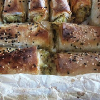 Courgette Borek with Potato, Cheese and Fresh Herbs/ Kabaklı Börek