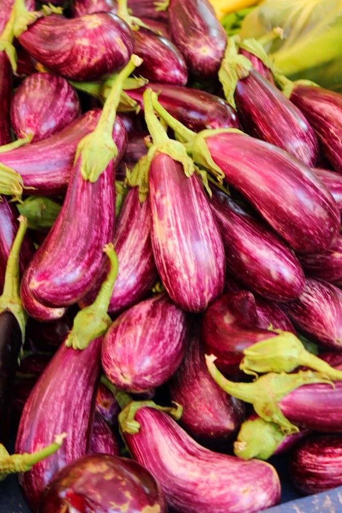 Stripy aubergines