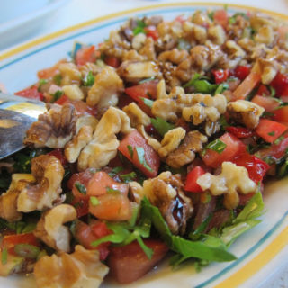 Gavurdağı Salatası – Turkish Tomato Salad with Walnuts & Cumin