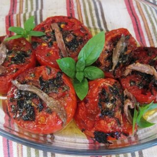 Roasted Tomatoes with Herbs and Anchovy Fillets