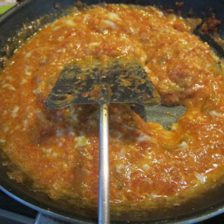 Menemen: Eggs Turkish-style