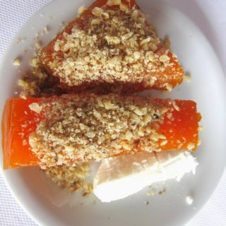 Pumpkin Dessert with Chopped Walnuts: Kabak Tatlısı
