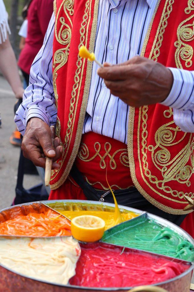Turkish lollipop vendor