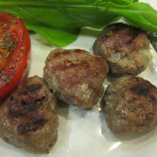 Cızbız Köfte or Sizzling Grilled Turkish Meatballs