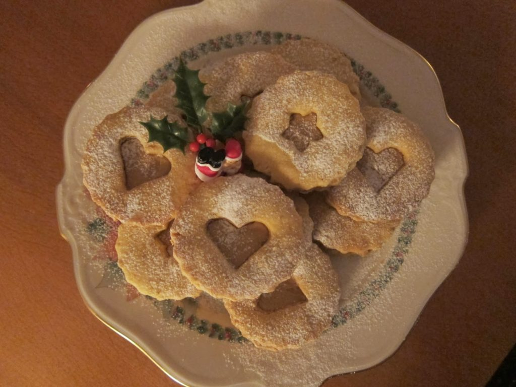Christmas hazelnut cookies