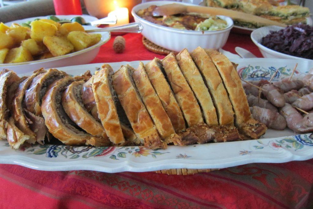 Beef en Croute sliced