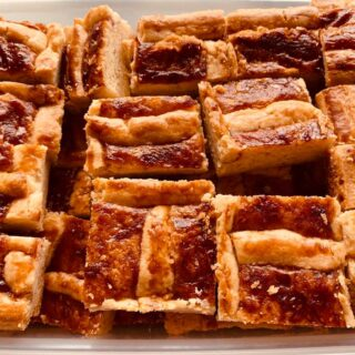 Jam Slices cut into bite sizes