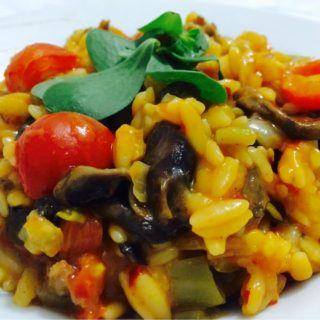 Orzo with Beef and Mushrooms