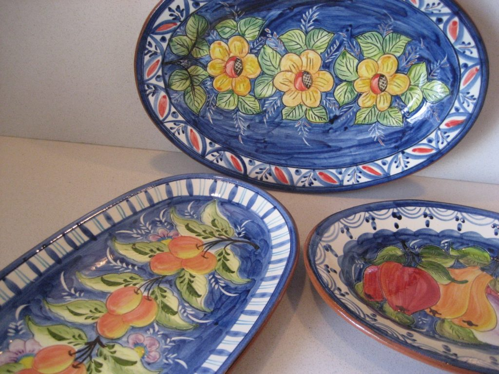 Portuguese hand painted dishes