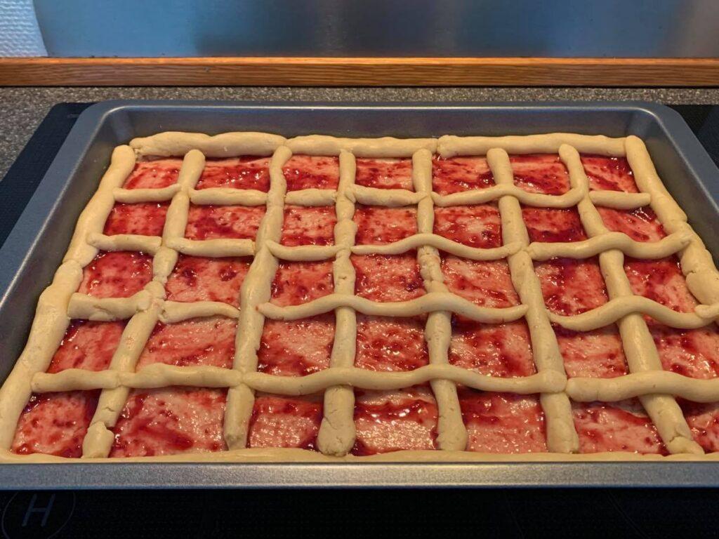 Jam Tart ready for the oven