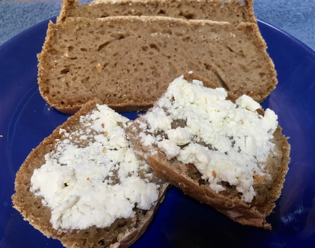 Rye Sourdough and White Cheese