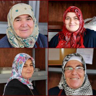 Şile market faces