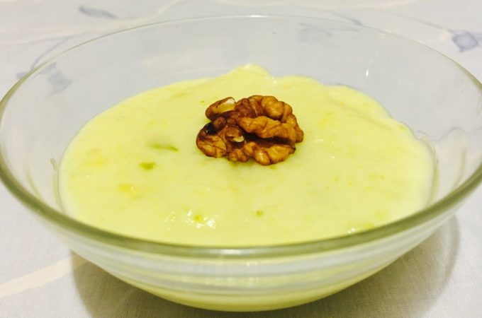 Zucchini Pudding is a milk based pudding that is very easy to make and delicious