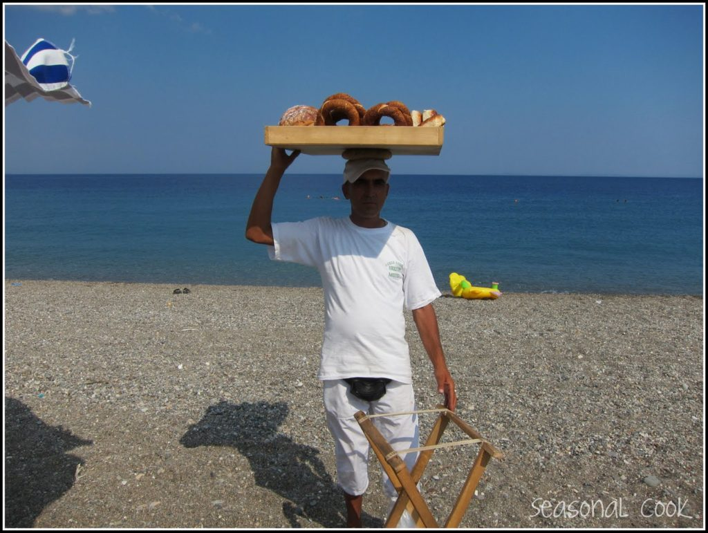 Simit seller on the beach
