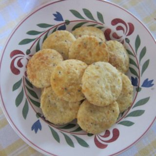 herb biscuits on a plate