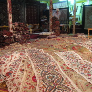 Carpet shop in Bukhara