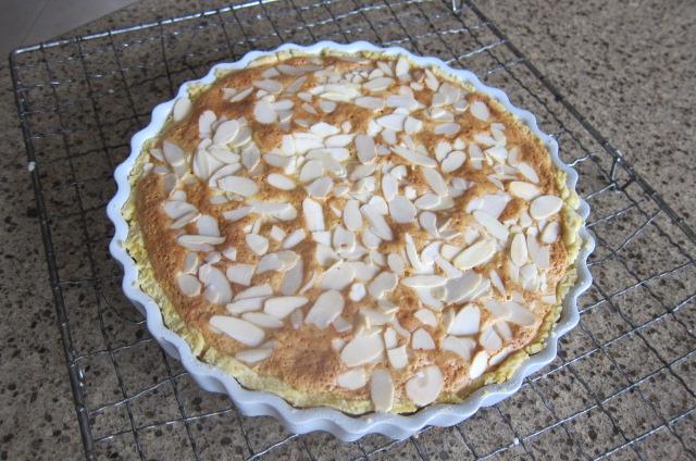 bakewell tart cooling