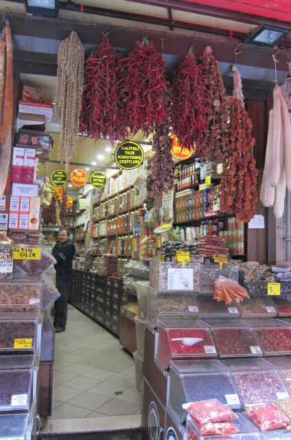 The narrow dried herb and spice shop