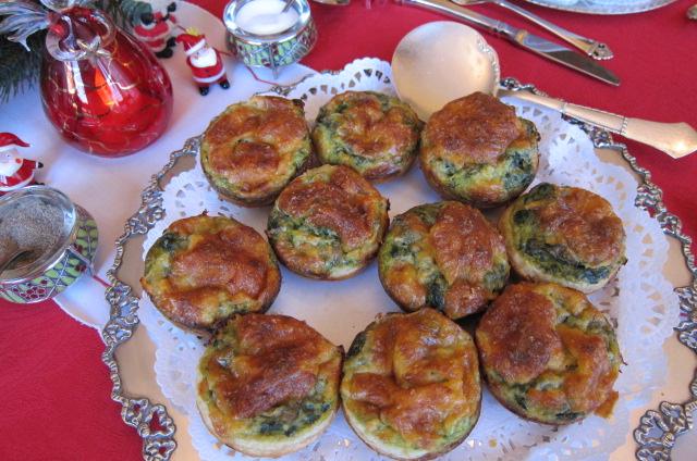 cheesy swiss chard tartlets
