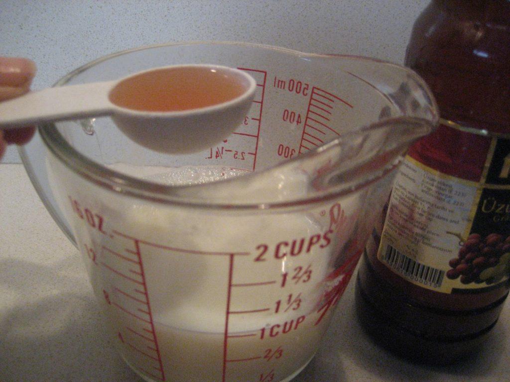 making sour milk