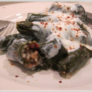 Meat-Stuffed Chard Rolls or Etli Pazı Sarma