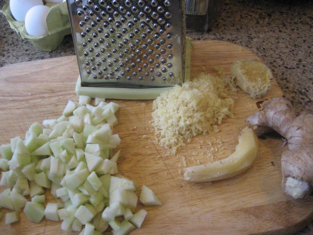 preparing cake ingredients
