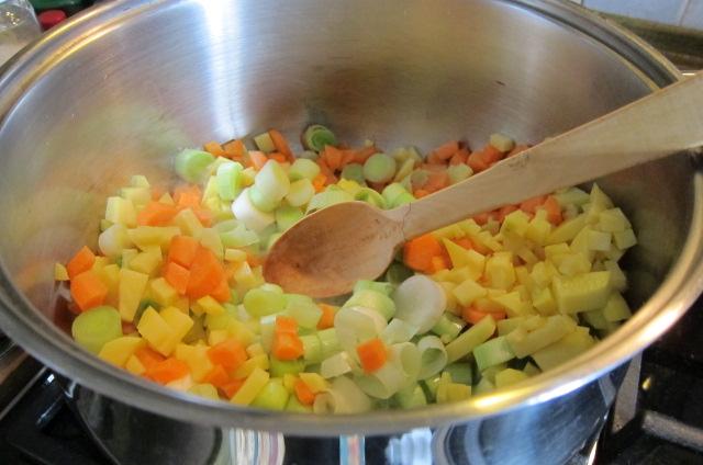 Sauteing the vegies